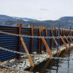 Shuswap Marina breakwater